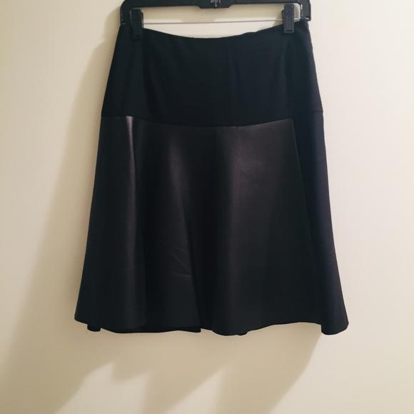 Akris Dresses & Skirts - AKRIS LAMB NAPPA LEATHER/WOOL SKIRT